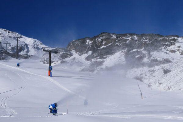 sneeuwkanonnen in Obertauern