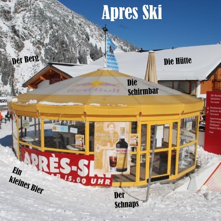 Duitse wintersport woorden - apres ski