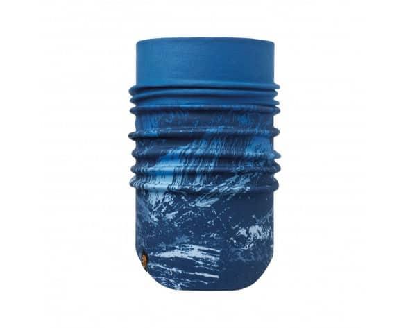 mooie warme nek met deze nekwarmer - blauwe buff