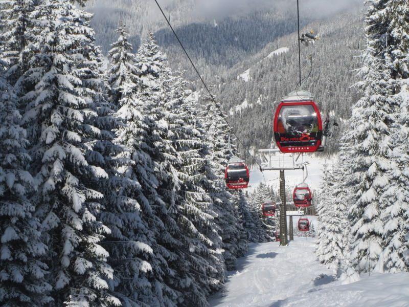 Wintersport in Flachau - afdalen bij de Rote 8-er