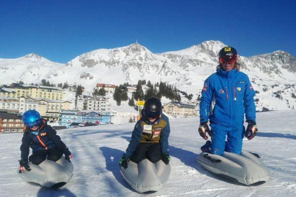 Airboarden in Obertauern met de skischool