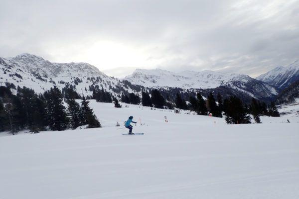 als eerste op de piste in Obertauern