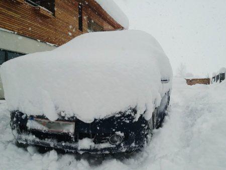 Sneeuwdump (65 cm) onderweg naar Oostenrijk