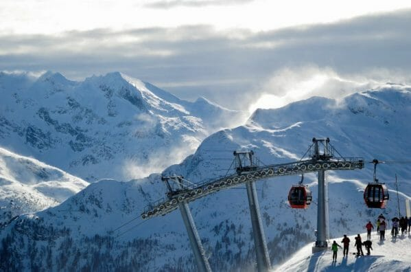 Wintersport in Bad Gastein Oostenrijk