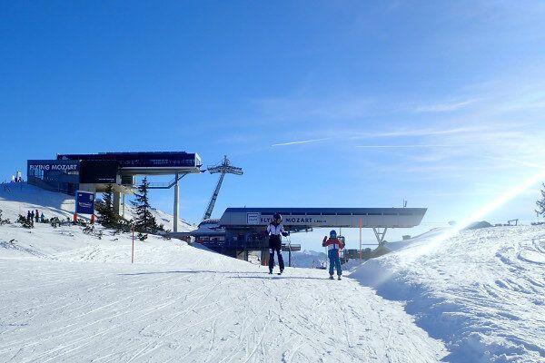 Het nieuwe bergstation van de Flying Mozart komt iets hoger te liggen.