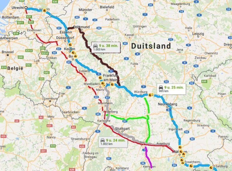 Beste route naar Oostenrijk - door Duitsland