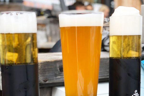 bier tijdens de apres ski in saalbach
