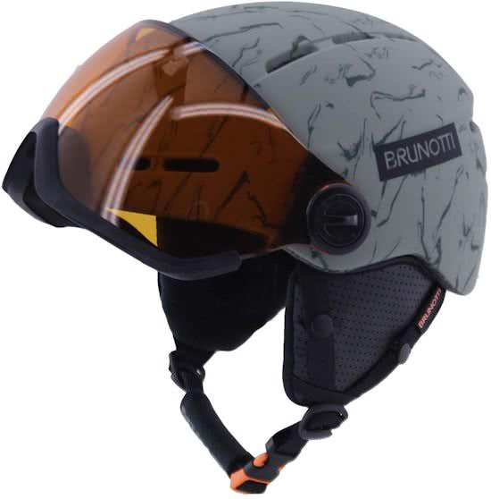 Brunotti - skihelm met vizier, geen skibril nodig