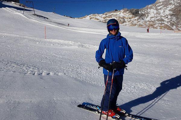 Decathlon skibroek op de piste