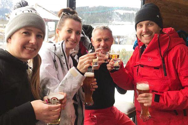apres ski in de enzian hutte in saalbach hinterglemm