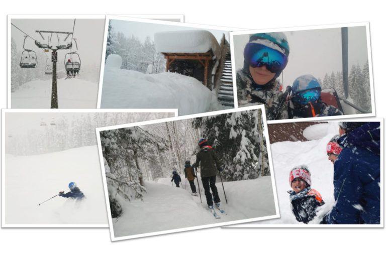 10 foto's van een fantastische sneeuwdag in Oostenrijk