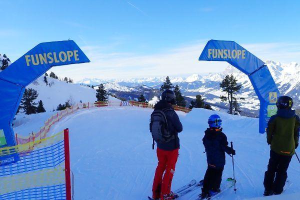 Funslopes op de 4 bergen skironde in planai en hauser kaibling