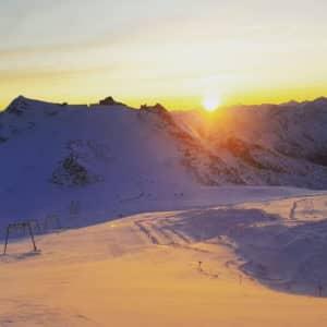 Goedemorgen in de sneeuw