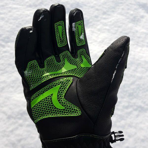 skihandschoenen geheel leer