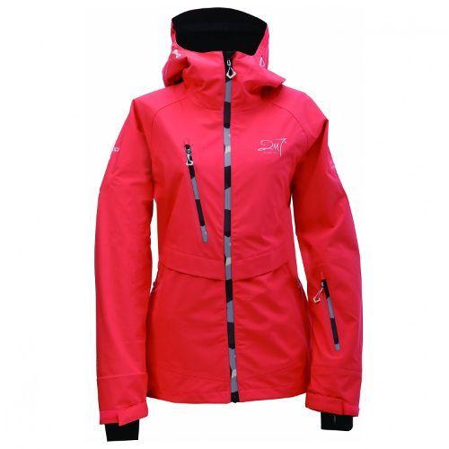 Hardshell ski jas voor dames in rood of roze