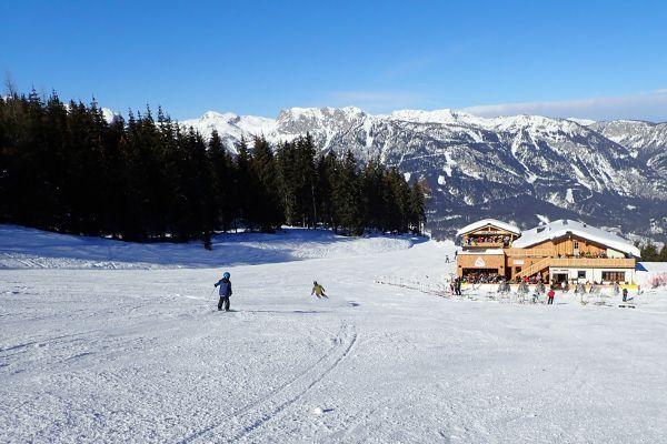 Hauser Kaibling is het laatste skigebied van de 4 bergen skironde