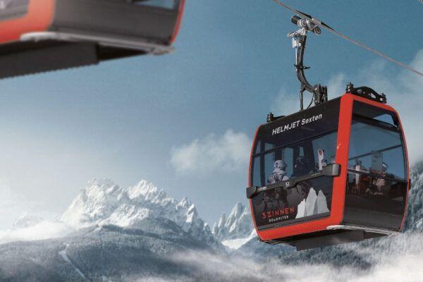 Nieuwe Helmjet gondel maakt skigebied 'Drei Zinnen Dolomiten' compleet