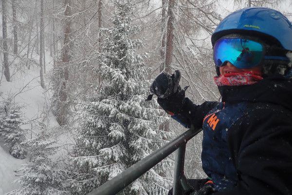 winterweer: heet sneeuwt in Zauchensee