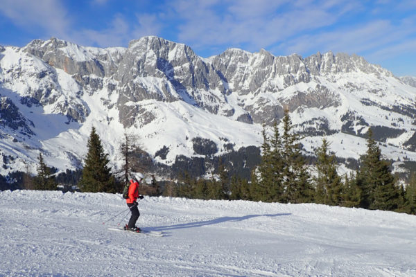 De Hochkonig skironde in Maria Alm, Muhlbach en Dienten