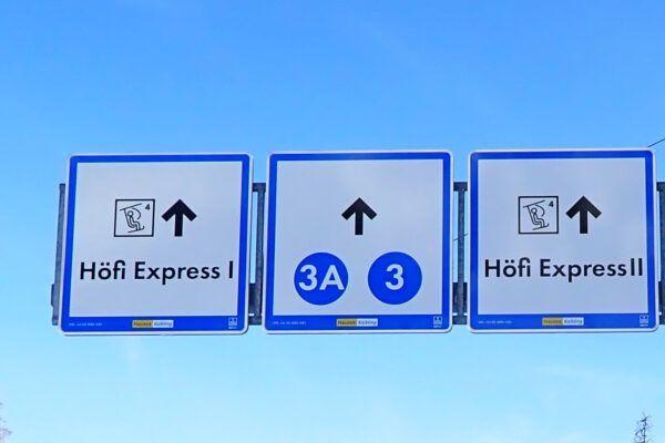 De pistes bij de Hofi Express.