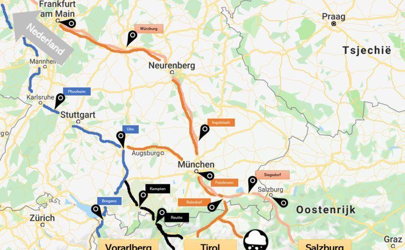 Hotel onderweg naar Oostenrijk - overzichtskaart
