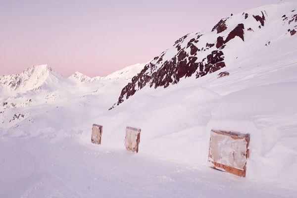 iglo's op de gletsjer van val senales