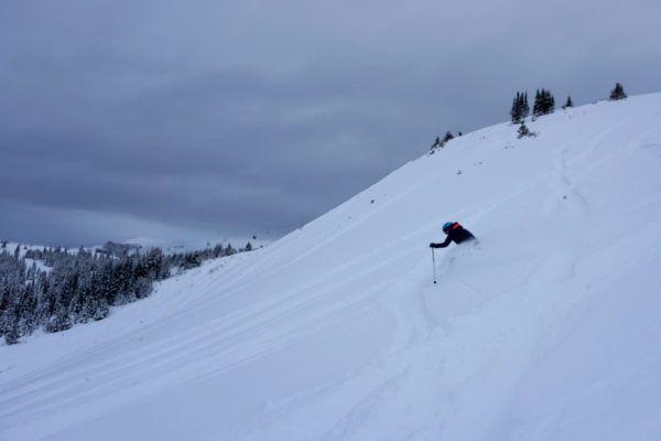 Poeder skien in Jasper