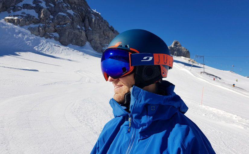 Neem je skibril mee als je een skihelm gaat kopen.