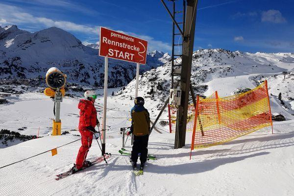 Kinderronde Obertauern met onderweg een tijdsmeting