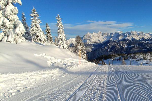 In het kleine skigebied van Fageralm kan je nog op echte natuursneeuw skiën.