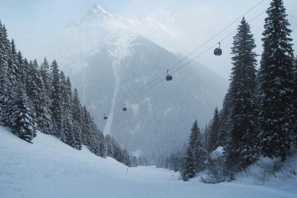 Het kleine skigebied Gargellen is uitermate sneeuwzeker.