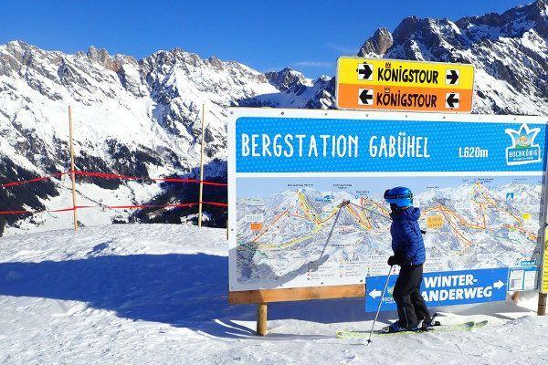 Königstour skitocht staat goed aangegeven