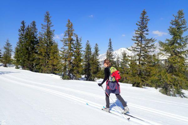 langlaufen tijdens de wintersport bij zwangerschap