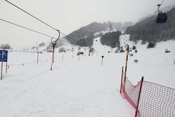 Live sneeuwval in Oostenrijk
