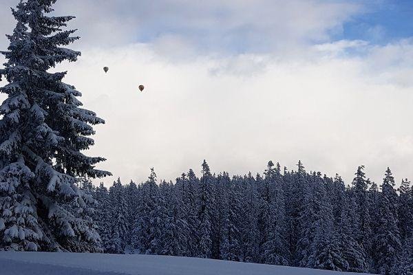 luchtballonen boven filzmoos