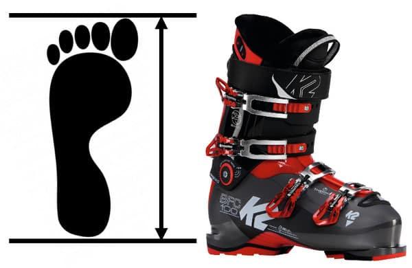 maat opmeten skischoen