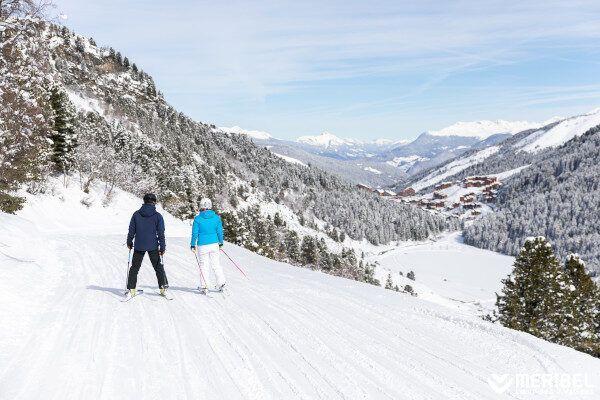 Meribel: Een fijn skigebied voor beginners.