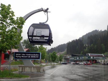 Dit is de nieuwe 'Flying Mozart' gondel in Wagrain