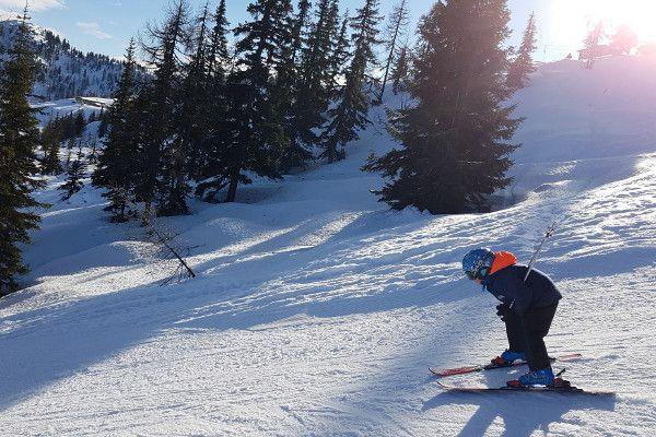 Nolan skiet hard in Fageralm