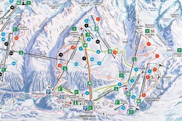 De nieuwe gondel in Obergurgl