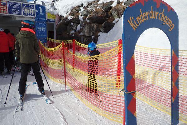 Speciale ingang bij de skilift in kindvriendelijk Obertauern