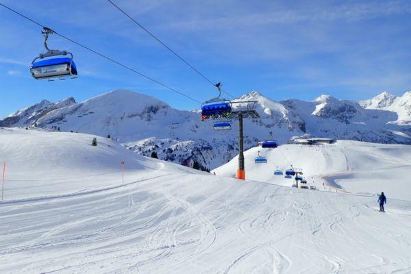 Een van de vele prachtige pistes in Obertauern.