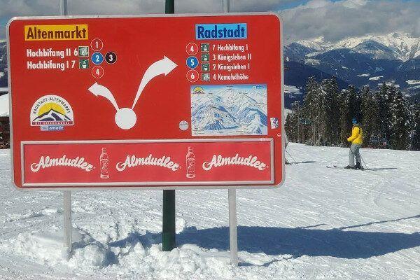 Links naar Altenmark, rechts naar Radstadt