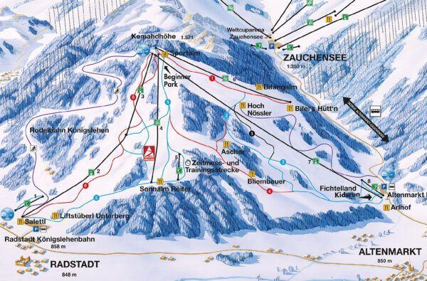 Plattegrond skigebied Radstadt - Altenmarkt