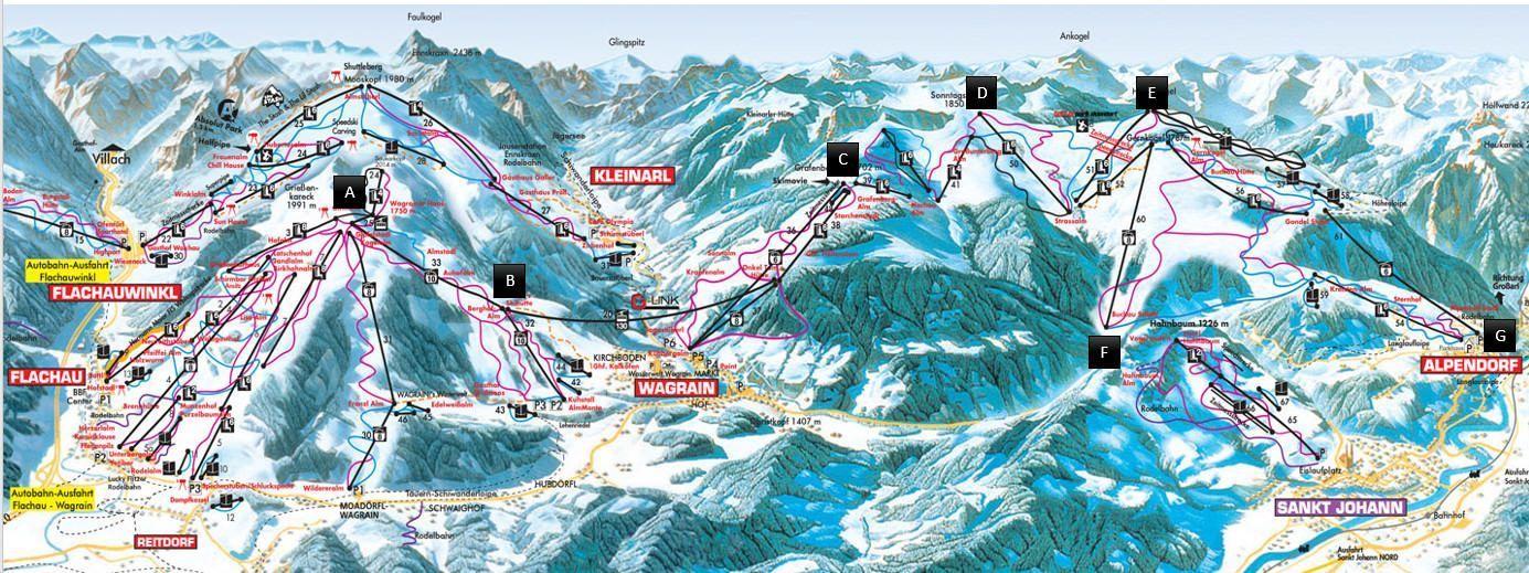 plattegrond ski amadé