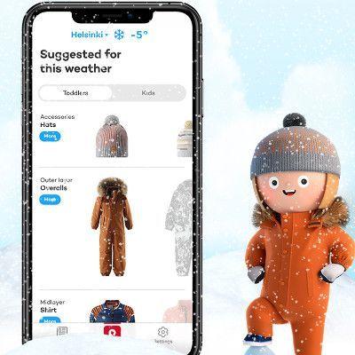 Reima weer app met aankleedadvies.