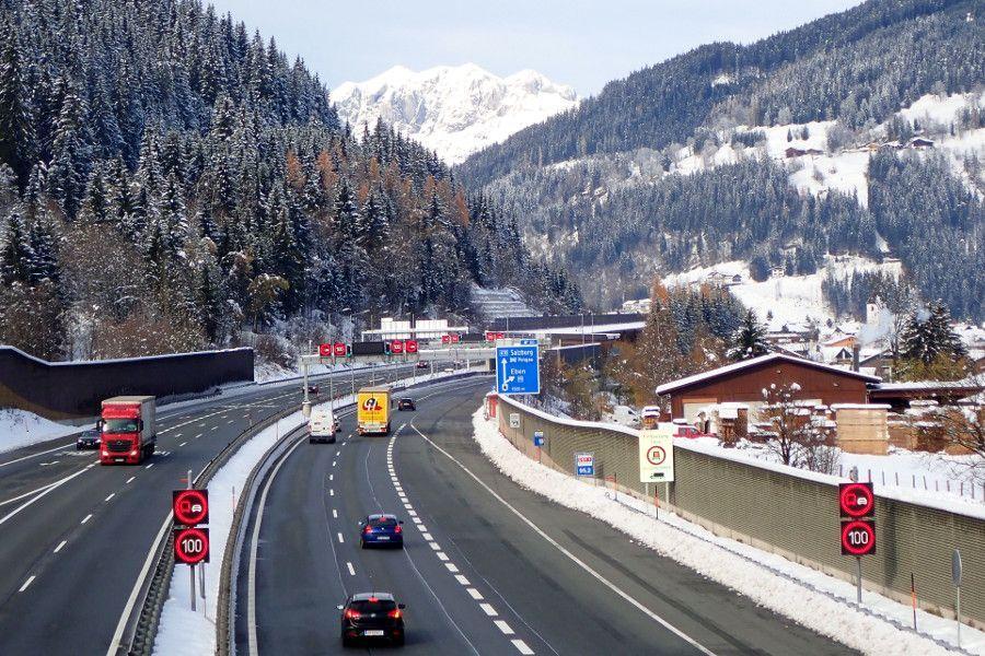 Beste route naar Oostenrijk wintersport