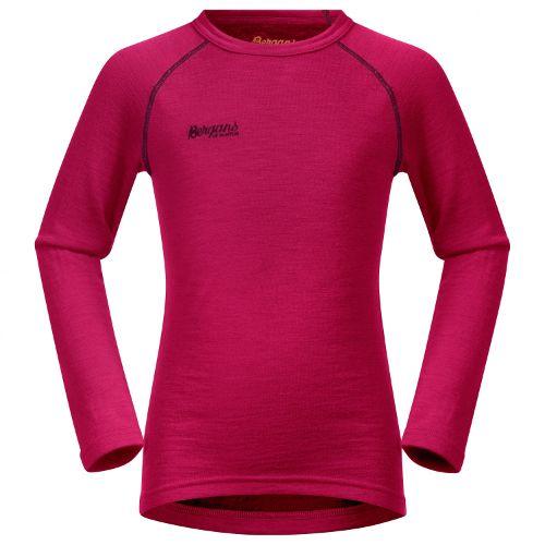 roze thermoshirt kind voor skiën en snowboarden