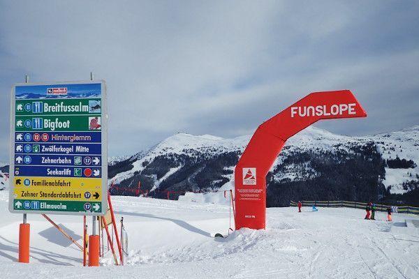 Funslopes in kindvriendelijk skigebied Saalbach