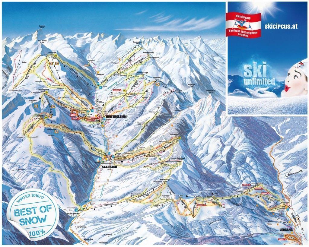 Skigebied Saalbach-Hinterglemm